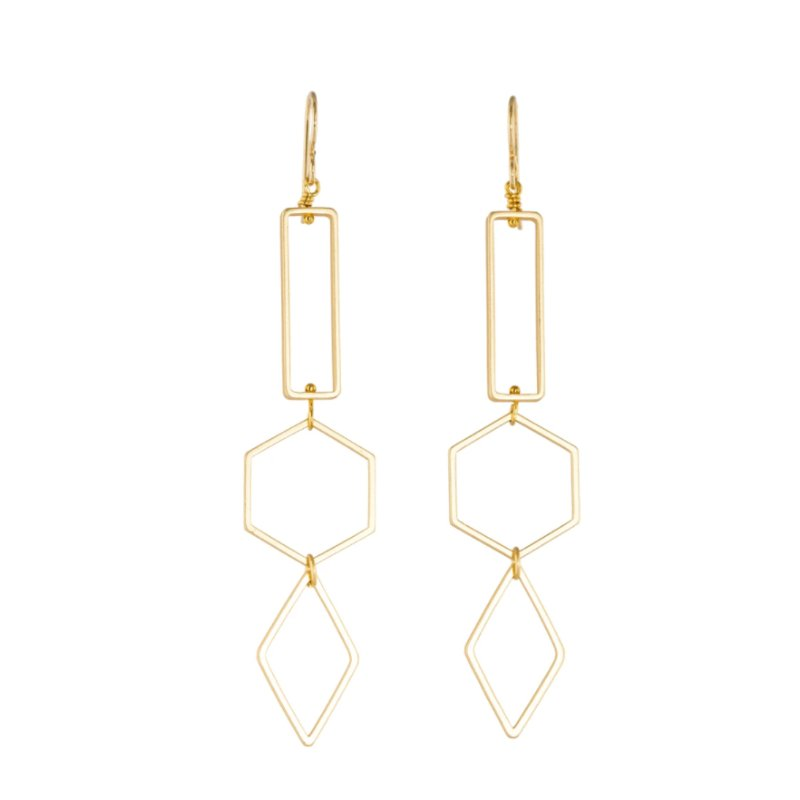 Tracy Gold Show Curated Illuminated Me Geometric Earrings